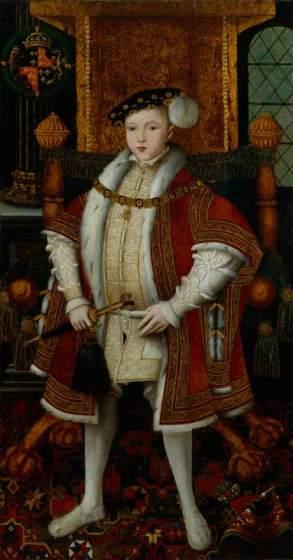 Eduardo VI por Guillim Scrots em c.1547