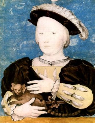 Henrique Fitzroy (ou Eduardo VI) por Hans Holbein, em 1541-1542.