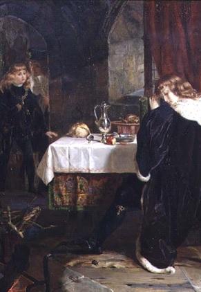 'The Princes in the Tower', por Henrietta Mary Ada Ward em 1861. Parte de uma coleção privada.