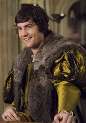 Jim Sturgess como George Bolena, no filme 'The Other Boleyn Girl' em 2008.