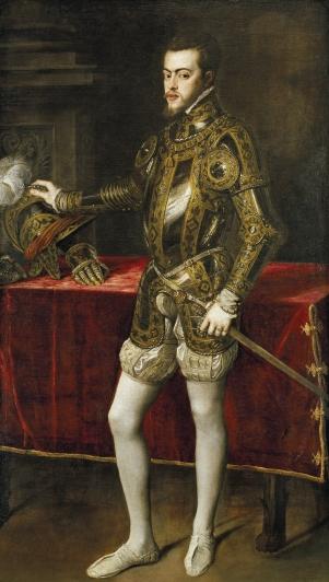 Filipe II da Espanha, por Ticiano em 1551.
