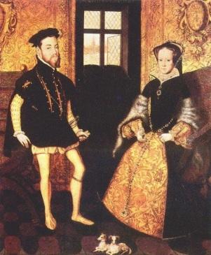 Retrato de Filipe II da Espanha e Maria da Inglaterra, por Hans Eworth em 1558.