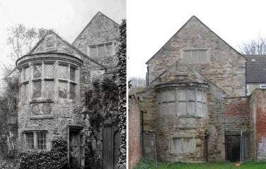 Belvedere em 1900 e atualmente.