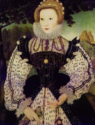 Retrato de uma mulher desconhecida. Artista desconhecido, 1575-80.