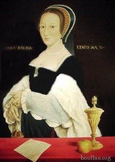 Retrato póstumo de Ana Bolena grávida.