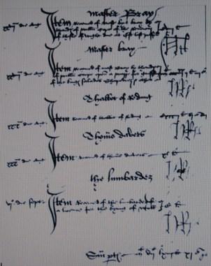 Contas do ano de 1492 escrito com a letra do rei