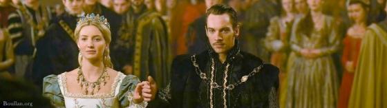 Annabelle Wallis como Jane Seymour e  Jonathan Rhys Meyer como Henrique VIII na série 'The Tudors'