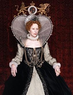 Helen Mirren como Elizabeth I na série 'Elizabeth' em 2005