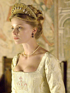 Anita Briem como Jane Seymour na série 'The Tudors'