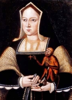 Retrato de Catarina de Aragão feito provavelmente em 1530 por um artista desconhecido.