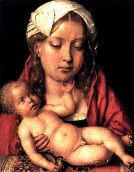 Catarina de Aragão como a Virgem Maria, no início de 1500.
