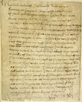 Carta de Henrique a Wolsey