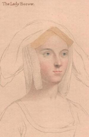 Rascunho de Holbein, Catarina Parr ou Agnes Tyrwhitt.