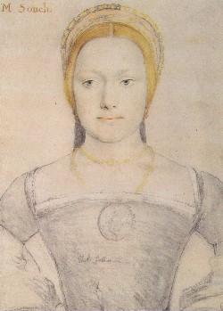 Possível Anne Gainsford, retrato de Hans Holbein.