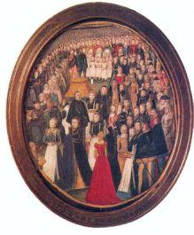 A Royal Maundy, atribuído a Levina Teerlinc, por volta de 1560.