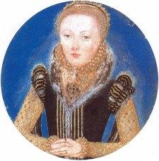 Miniatura de Elizabeth I, atribuído a Levina Teerlinc, por volta de 1560-5.
