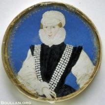 Retrato de uma mulher desconhecida, atribuído a Levina Teerlinc, por volta de 1560.