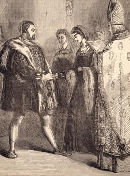 'O casamento do rei Henrique VIII e Catarina Parr'. Artista desconhecido, séc. 18.