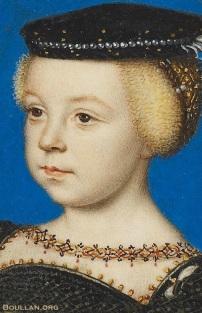 Miniatura de Elisabeth de Valois, por volta de 1549.