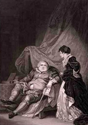 Henrique VIII e Catarina Parr, por Robert Smirke.