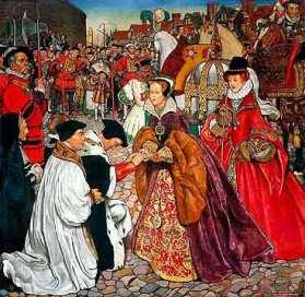 Maria I entra triunfante em Londres.