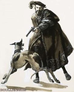 Thomas, tomado pela raiva, atira em um dos cachorros do rei. Doughty, C.L. (1913-85)