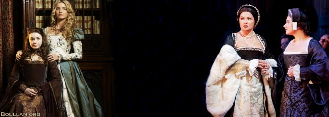 Ana Bolena (Anna Netrebko) e Jane Seymour (Ekatrina Gubenova) na peça de Donizetti.