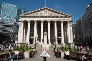 Royal Exchange, na cidade de Londres