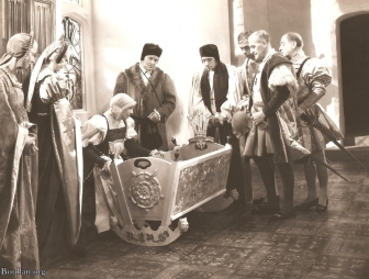 "Cena do filme ""The Private Life of Henry VIII"" em 1933."