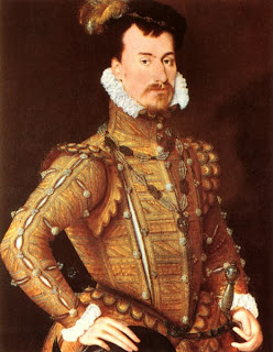 Robert Dudley, atribuído a Steven van der Muelen, por volta de 1560-65.