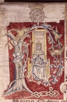 Henrique VIII no Coram Rege Roll de 1517.