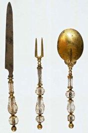 Faca, garfo e colher do século XVI