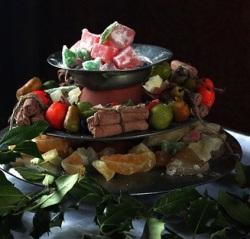 montanha de frutas e verduras