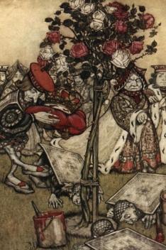 rosas brancas e vermelhas