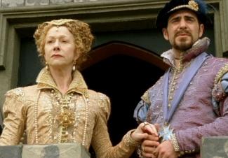 Rainha Elizabeth e o Duque de Alençón na série Elizabeth I, de 2005.