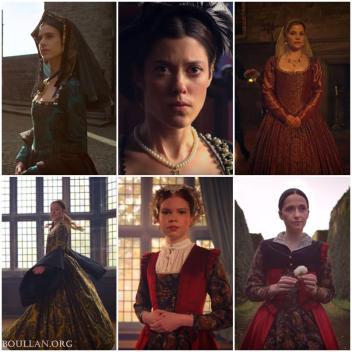 Como as seis esposas de Henrique serão apresentadas.