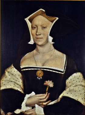 Retrato de Elizabeth, feito por Holbein por volta de 1536.